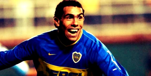 Tévez durante su etapa en Boca Juniors